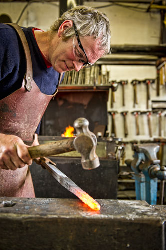 Artist Blacksmith at Fransham Forge